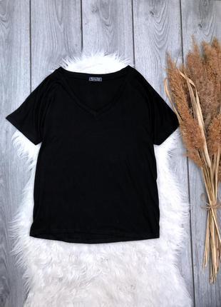 Massimo dutti базовая футболка блуза чёрная легкая м 38 10 s 36 8