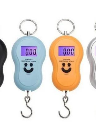 Кантерные цифровые весы с батарейками, смайлик от 0,01гр до 50кг