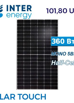 Сонячна панель батарея. Зелений тариф. INTER ENERGY 360W . СЕС