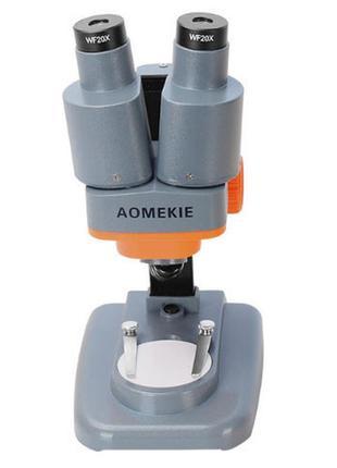 Микроскоп Aоmekie 40X  стереоскопический бинокулярный  с подсв...