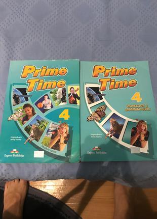 Продам книгу та зошит Prime Time 4 з секцією граматики