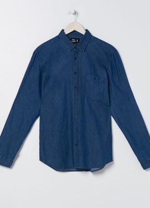 Мужская рубашка, джинсовая рубашка , мужская джинсовая рубашка