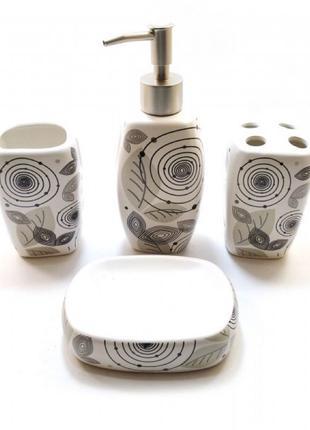 Набор для ванной керамический белый (24х22х6,5 см)