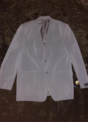 Серый мужской пиджак + жилетка