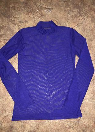 Водолазка фиолетового цвета сетка