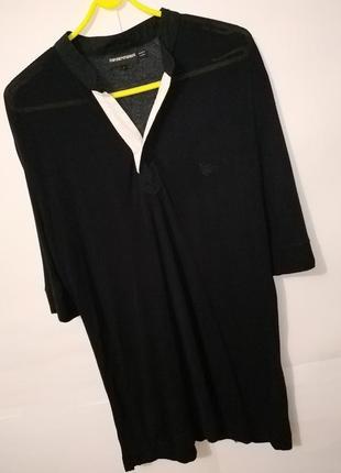 Черная оригинальная футболка тенниска от emporio armani 52/40/l