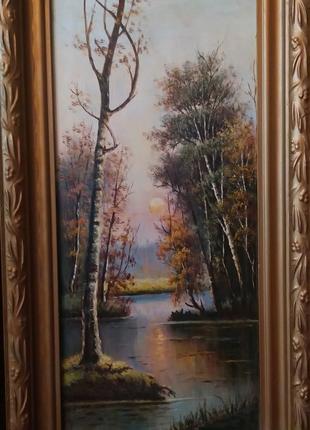 Картина маслом  Закат художника Василия Вакуленко