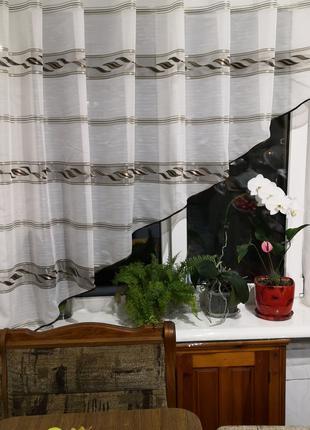 Занавеска штора тюль на кухню уголок