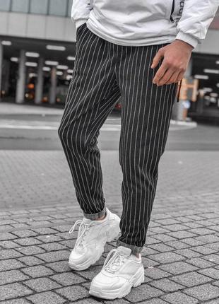 Крутые мужские спортивные повседневные штаны в полоску