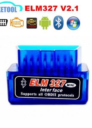 OBD2 ELM327 Bluetooth V2.1 Беспроводной сканер диагностики авто