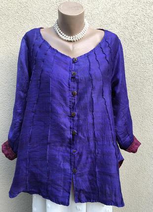 Шелк,двухсторонняя блуза,рубаха,этно бохо стиль,непал,эксклюзив