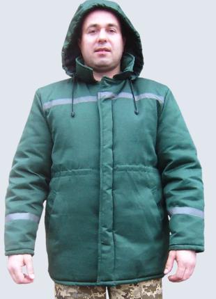 Зимняя рабочая куртка для стойки Универсал, зеленая