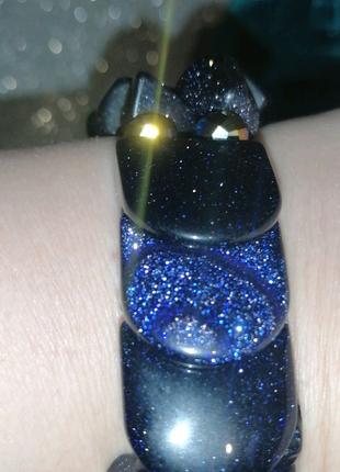 Женский браслет из натурального камня авантюрин.