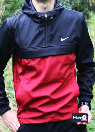 Анорак Nike красно-черный XL