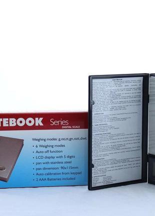 Весы карманные 500g 0.01g 1108-5 ювелирные Notebook Series