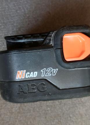 Аккумулятор шуруповерта Aeg-wurth master 12V