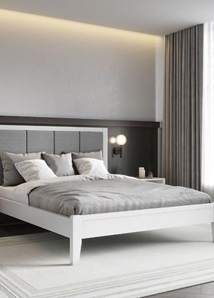 Кровать двуспальная из массива дерева ольхи. Доставка Киев