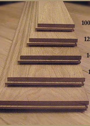 Массивная доска из дуба производится в толщине 15 мм, 20 мм, 24
