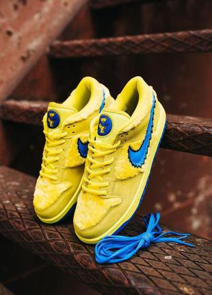 Кроссовки nike sb dunk low x grateful dead yellow\blu cod: 0369