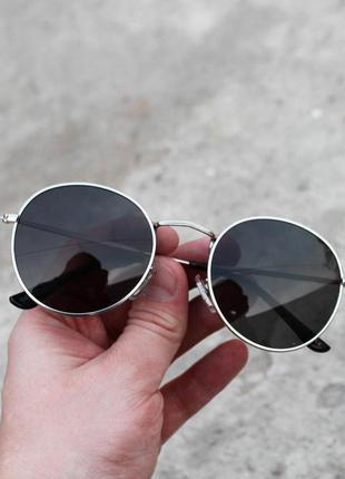 Стильные круглые солнцезащитные очки в стиле ray ban