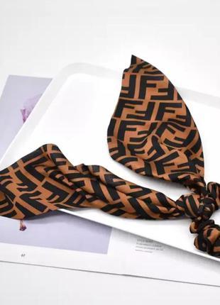 Трендовая стильная резинка твилли, резинка с платком в стиле f...