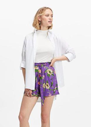 Легкая вискозная шорты-юбка свободного кроя высокая посадка st...