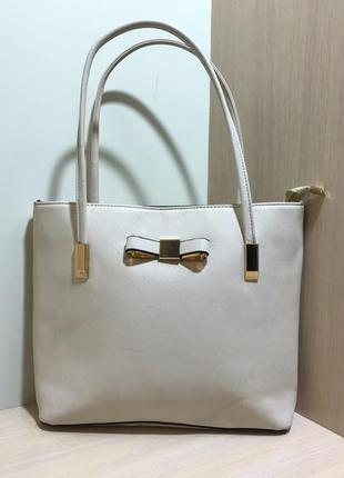 Женская сумка (оригинал бело-золотая)