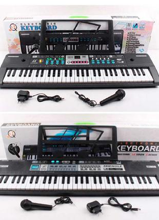 Синтезатор детский MQ6180-82 61 клав, микрофон, запись, демо, 16т