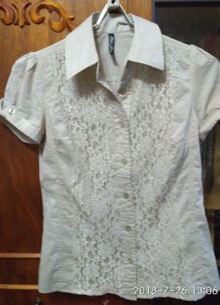 Продам блузку бежевую