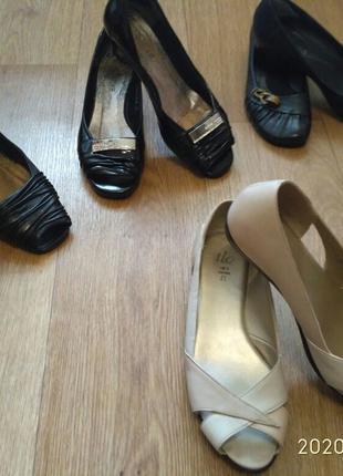 Туфли кожаные женские 35-36 размера