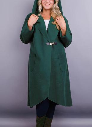 Женское пальто-кардиган больших размеров  рр 54-64