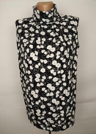 Блуза красивая трикотажная под горло в сердечки next uk 14/42/l