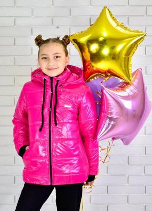 Куртка на девочку весна/осень розовая