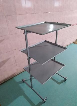 Металлический столик  3 полки