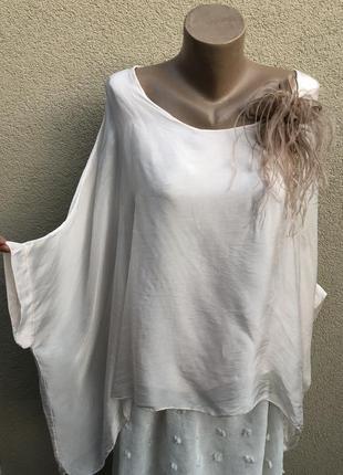 Шелковая блуза реглан,разлетайка,этно бохо стиль,большой размер,