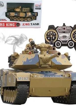 Танк на радиоуправлении M1A2 Abrams 789-1 аккумулятор , стреляет