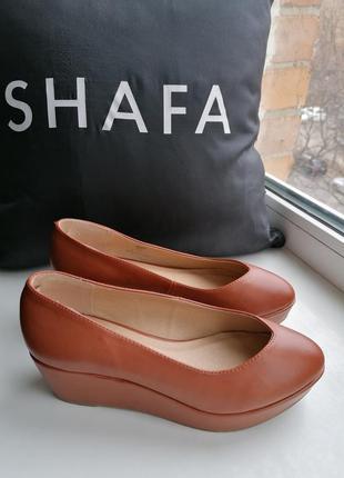 Шикарные туфли на невысокой платформе новые сток next (к082)