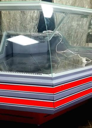 Угловая витрина холодильная ТехноХолод