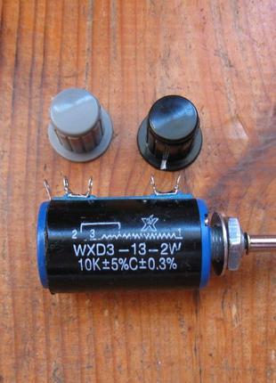Многооборотный резистор (потенциометр) 10 кОм 10 оборотов лабо...