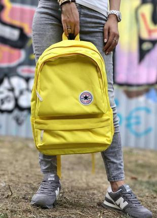 Стильный рюкзак converse yellow