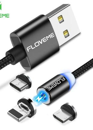 Магнітний провід micro USB typeC iPhone магнітна зарядка ЮСБ