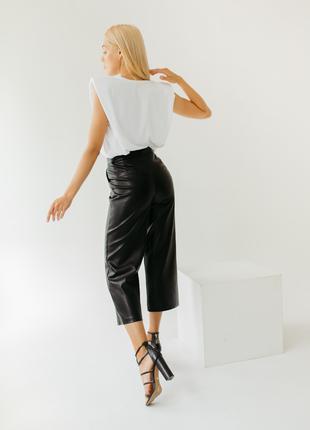Кюлоты штаны брюки из эко-кожи