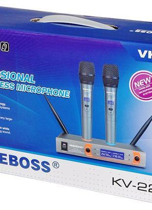 Радиосистема Freeboss KV-22 радио микрофон беспроводной радиомикр