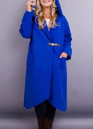 Размеры 50-64! стильное пальто кардиган кашемир электрик, в ра...