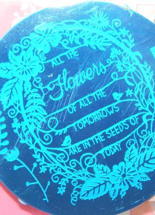 Пластина hehe069 стемпинг трафарет форма плитка диск для маникюра