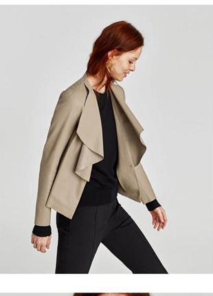 Асимметричный блейзер, пиджак, лёгкая куртка, накидка, эко кож...