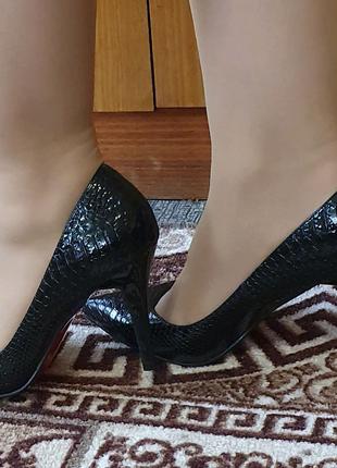 Туфли кожаные 40р, 27,3 см стелька