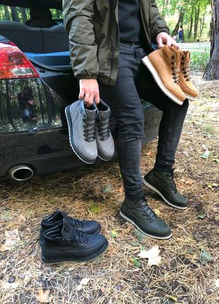Мужские ботинки на меху, зима.
