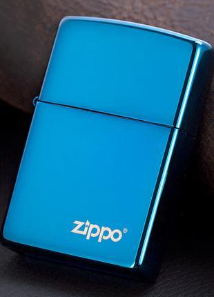 Zippo Blue Ice зажигалка зеркальная зиппо оригинал Stok13