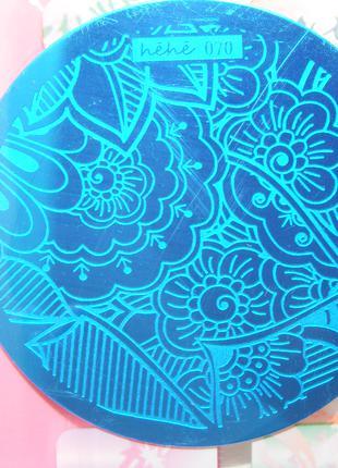 Плитки hehe070 стемпинг стальные пластины маникюр дизайн ногти